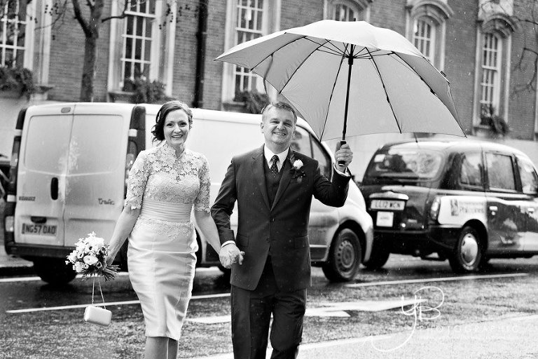 Rainy Day Wedding at Chelsea Register Office