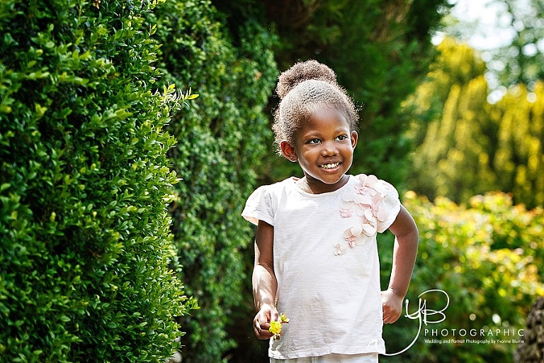 Natural children's phography on location in London