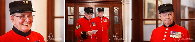Chelsea Pensioners Walther and John witness the elopement of a Welsh couple at Chelsea.