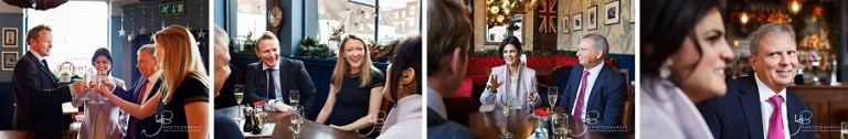 Post wedding drinks at the Cadogan Arms, photography by Yvonne Blume