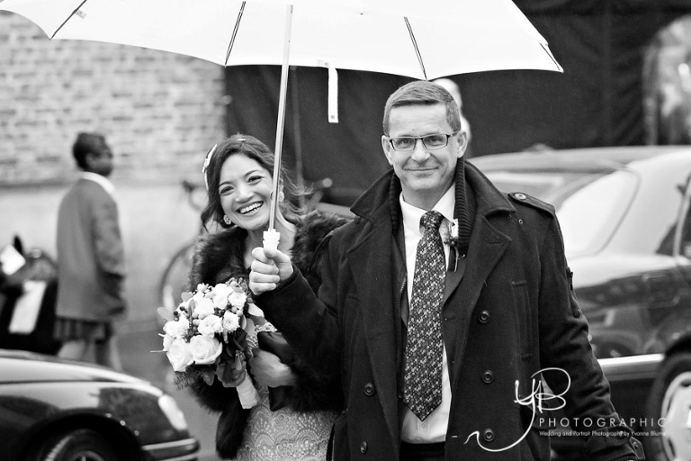 Rainy wedding at Mayfair Library by YBPHOTOGRAPHIC