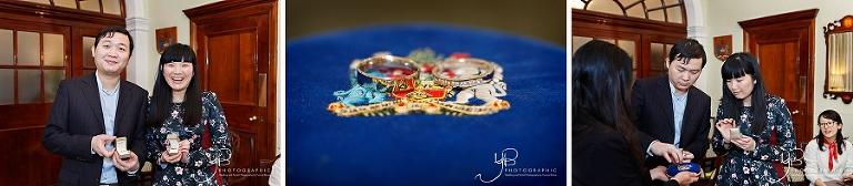 Wedding rings at Chelsea Register Office