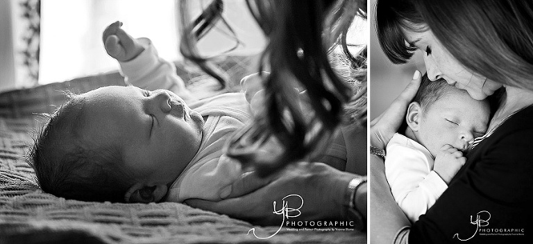 Newborn baby photography session in Clapham