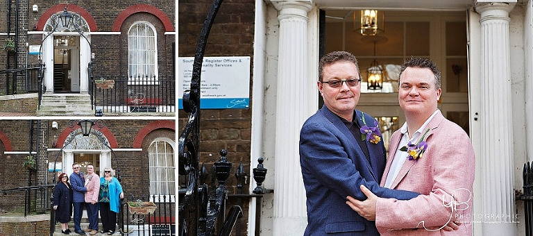 Civil Partnership Photography at Southwark Register Office