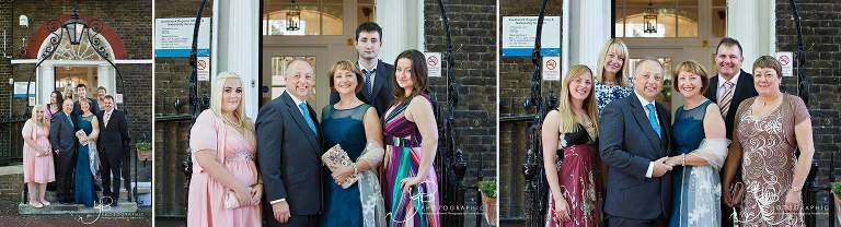 Family Group Photographs at Southwark Register Office
