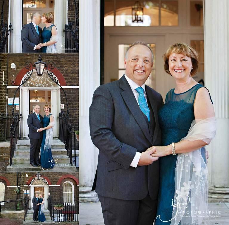 Bride and Groom portraits at Soutwark Register Office