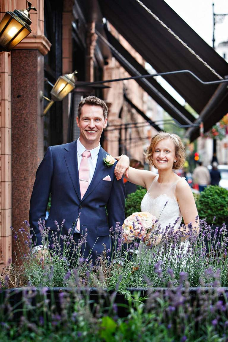 Fun summer wedding portrait photos in Mayfair
