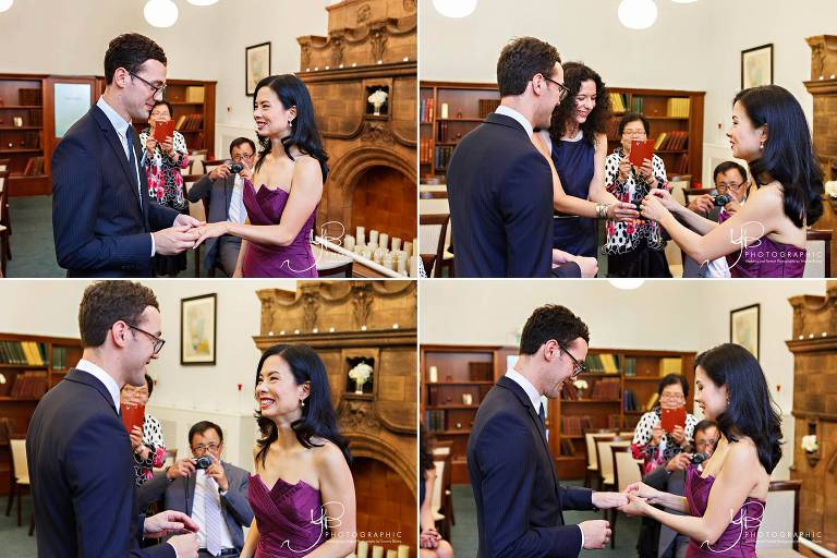 Wedding Ceremony at Mayfair Library photographed by YBPHOTOGRAPHIC