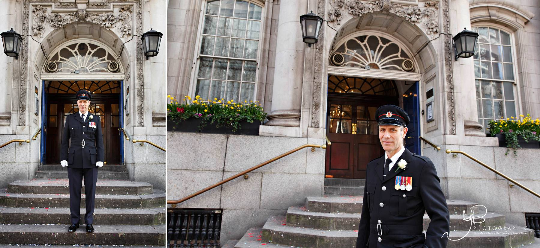 Firefighter Groom at Chelsea Register Office