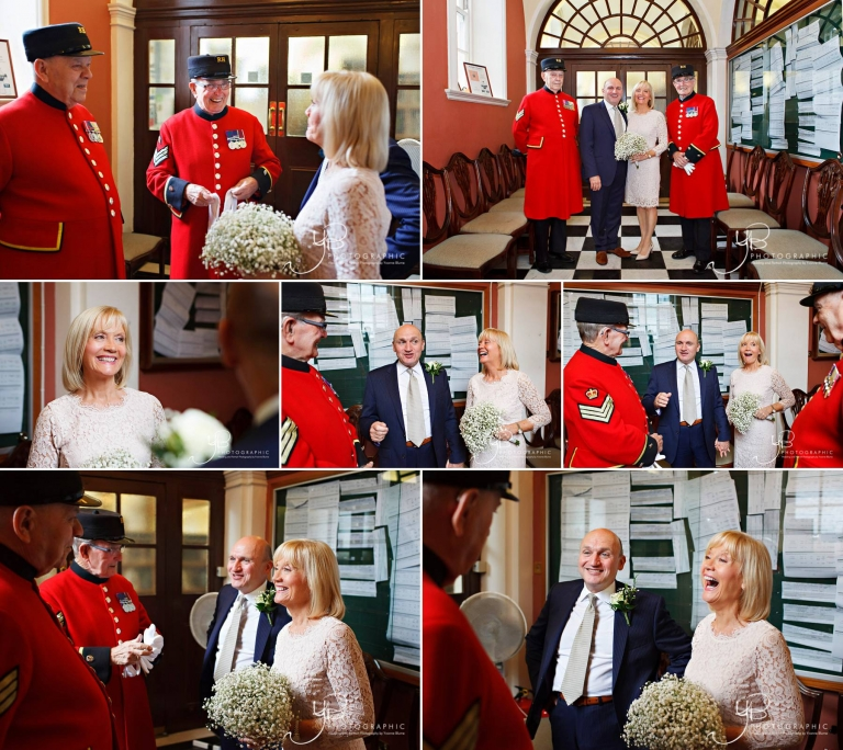 Chelsea Pensioners as you elopement witnesses for your chelsea wedding.