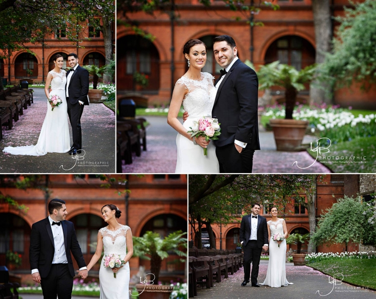 Bride and Groom Wedding Portraits in Mayfair by YBPHOTOGRAPHIC