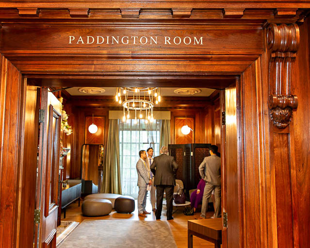Guests gather in the Paddington Room, ready for a civil wedding.